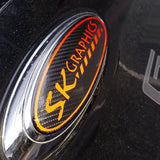 Custom Gel Badges CARBON BACKGROUND (Front, Back, Steering Gels)