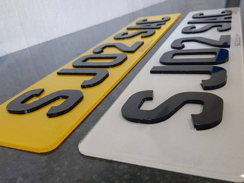 Laser Cut Acrylic Road Legal Number Plates