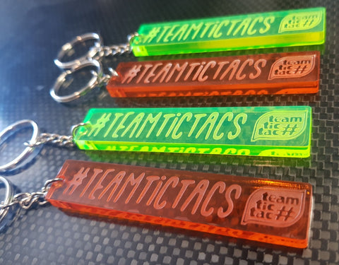 #TeamTicTacs Laser cut Key ring