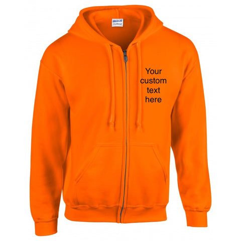 Adults Personalised Zipped Hoodie