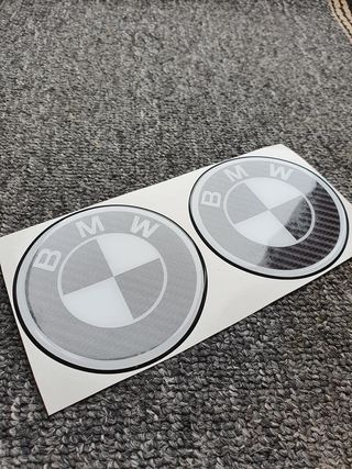 BMW Custom CARBON Wheel Centre Gel Badges