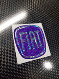 Fiat 500 Gel Badges ALL GLITTER Front And Back only