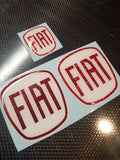 Fiat 500 Gel Badges PARTIAL GLITTER Front and Rear Only