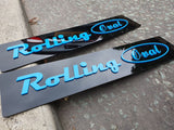 Rolling Oval Laser Cut Show Plates