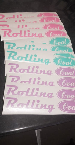 Rolling Oval Pastel Colour Sticker