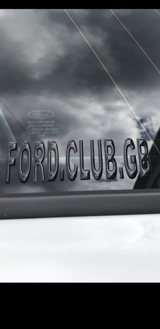 Ford.Club.Gb 3D Club Sticker