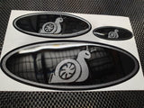 Custom Gel Badges (Full Set - Front, Back & Steering Wheel)
