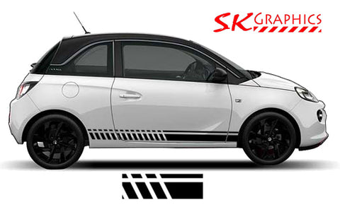 Vauxhall Adam Side Stripe Kit Slash Style