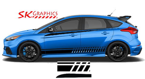 Focus RS Universal Double Side Stripe Kit Slash Style