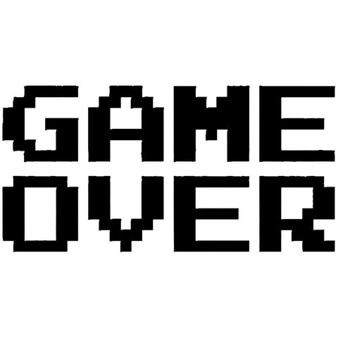 Retro Game Over Decal