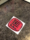 Fiat 500 Gel Badges ALL GLITTER Steering Wheel Only