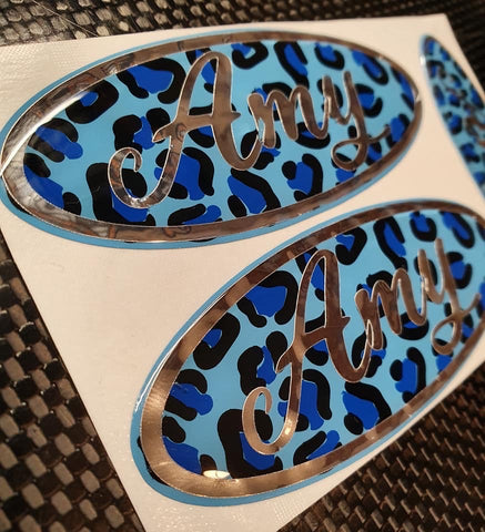 Custom Gel Badges  (Front & Back only)   with Chrome and Glitter colours