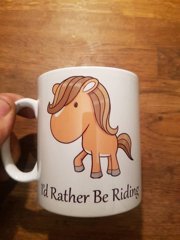 Cartoon - I'd rather be riding mug