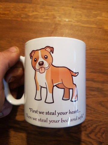 First we steal your heart Staffie Mug
