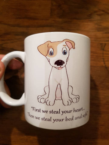 First we steal your heart mug Jack Russell Terrier
