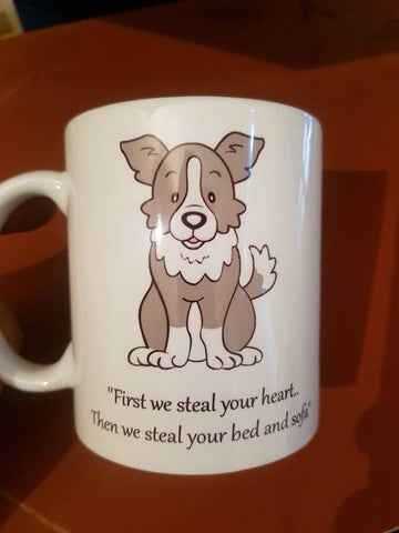 First we steal your heart mug Border Collie