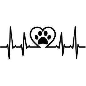 Paw Print Life line car decal
