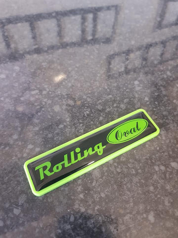 Rolling Oval Plaque Badge with Gel