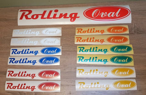 Rolling Oval Decal (Reflective Sticker)