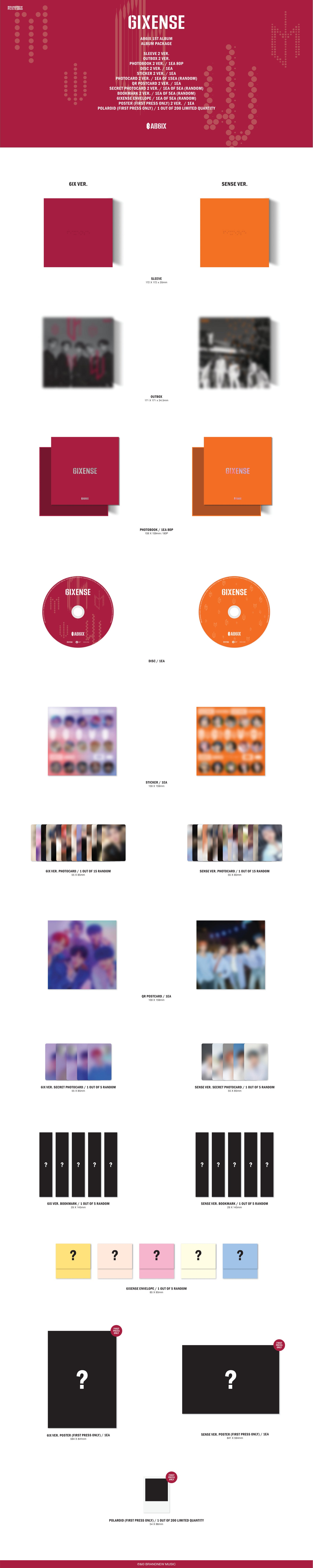 AB6IX_6IXSENSE_SOKOLLAB New Kpop Album Music CD