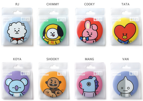 BT21 Pocket Mirror from SOKOLLAB London Kpop and Kbeauty store