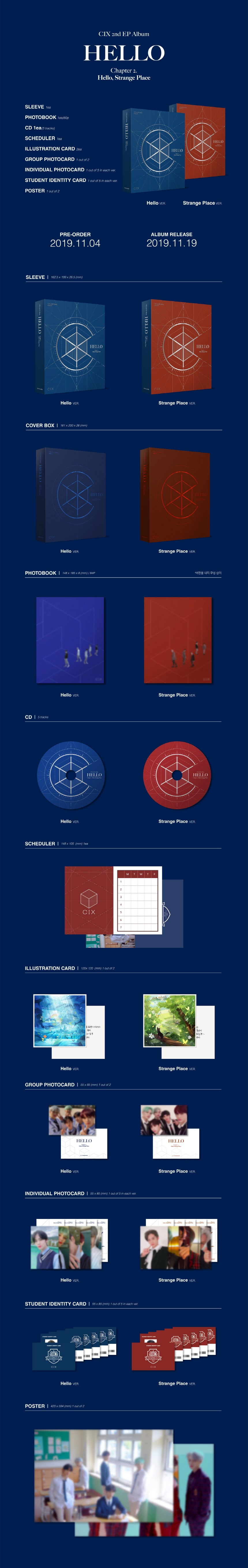 CIX Hello Strange Place 2nd EP Album Kpop SOKOLLAB London