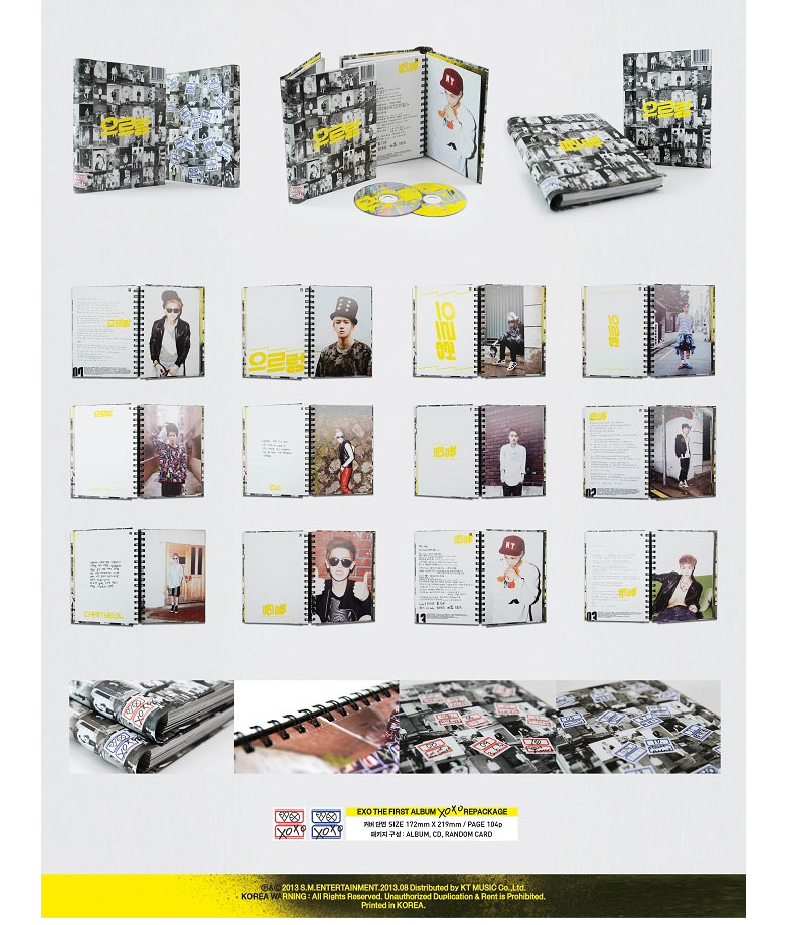 EXO - 1st Full Repackage Album XOXO Kiss - Hug Ver Infographic2