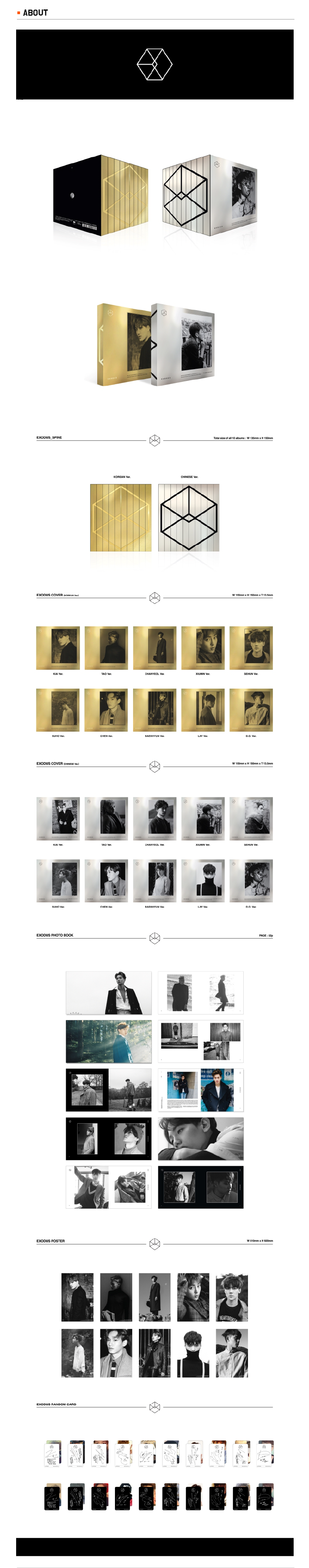 EXO - 2nd Full Album EXODUS Korean -Chinese Ver. Infographic
