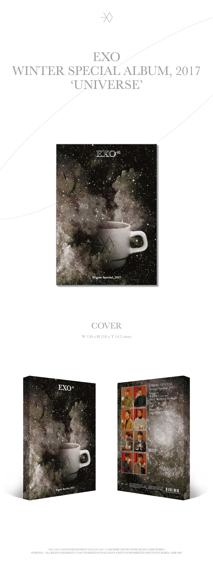 EXO Universe Winter Special Infographic Album 2017