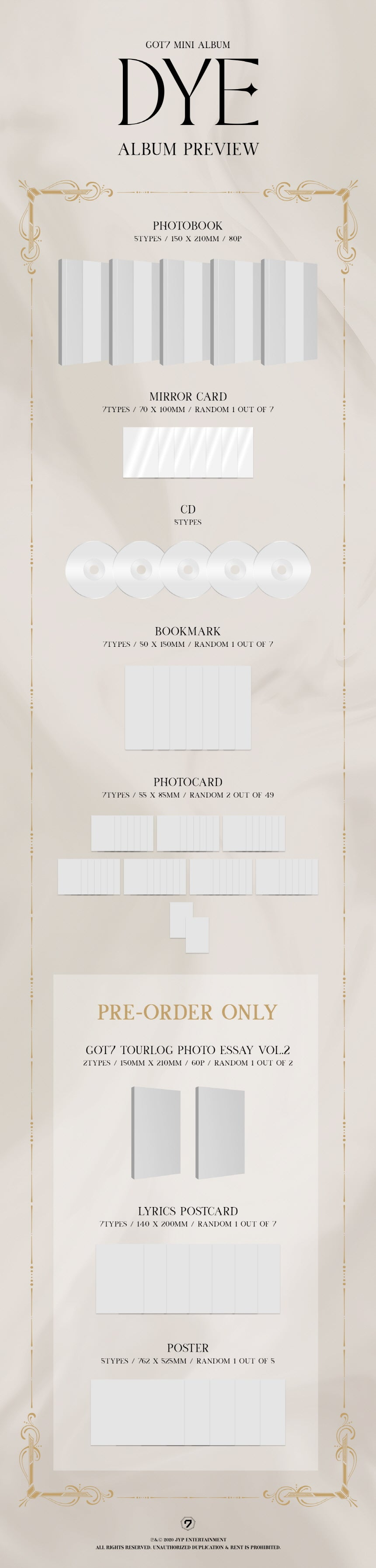 SOKOLLAB PREORDER GOT7 NEW MINI ALBUM DYE