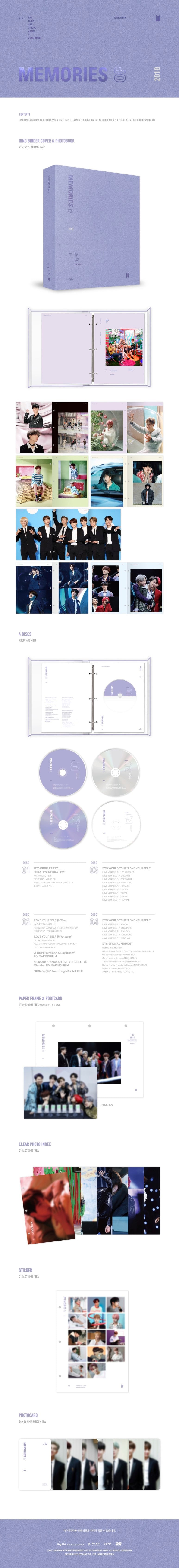 Memories of BTS 2018 DVD