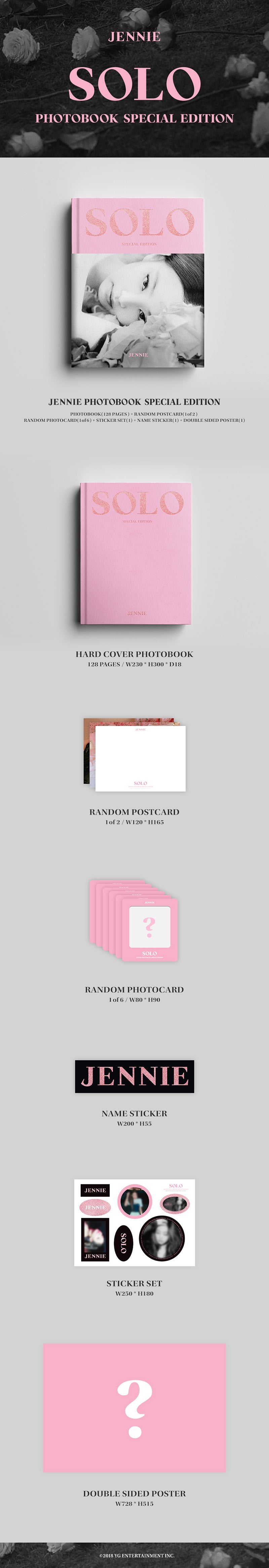 JENNIE SOLO SPECIAL EDITION PHOTOBOOK Infographic