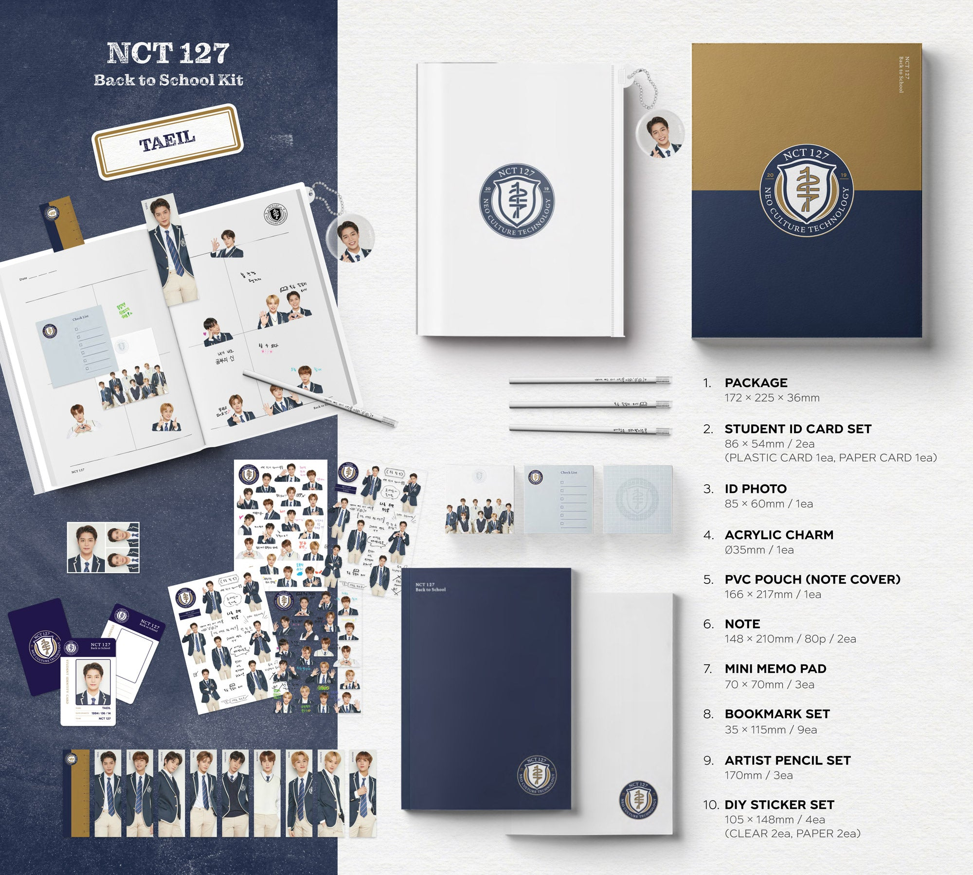 NCT127 Back to School Kit