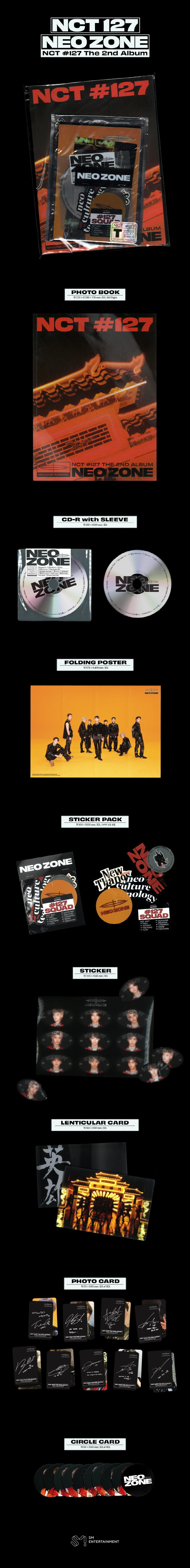 NCT 127 NEO ZONE Version T (NCT127 NEOZONE The 2nd Album) at SOKOLLAB