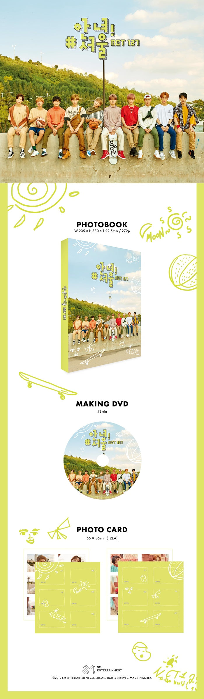 NCT 127 PHOTOBOOK WITH DVD
