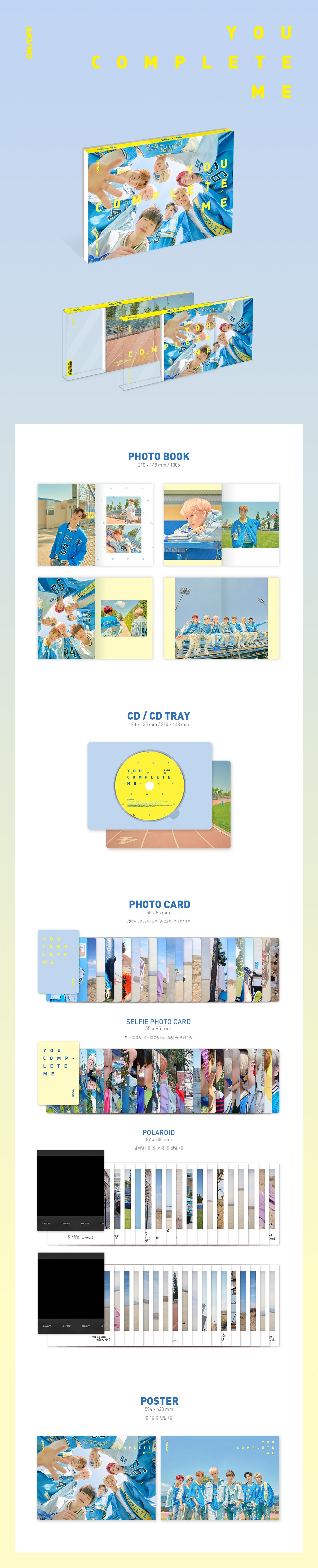 ONF 2nd Mini Album YOU COMPLETE ME (reissue) Infographic