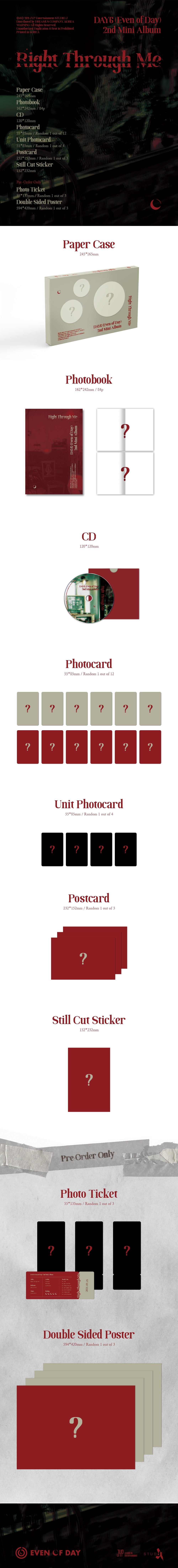 PREORDER - DAY6 (EVEN OF DAY) - 2ND MINI ALBUM RIGHT THROUGH ME Infographic