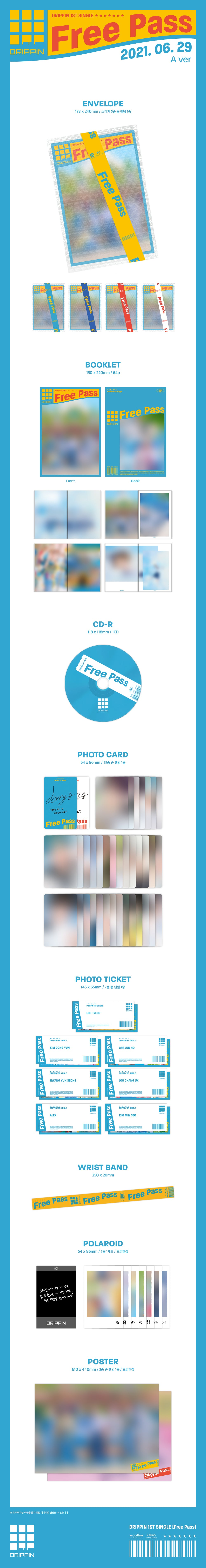 PREORDER - DRIPPIN - SINGLE ALBUM FREE PASS Ver A Infographic