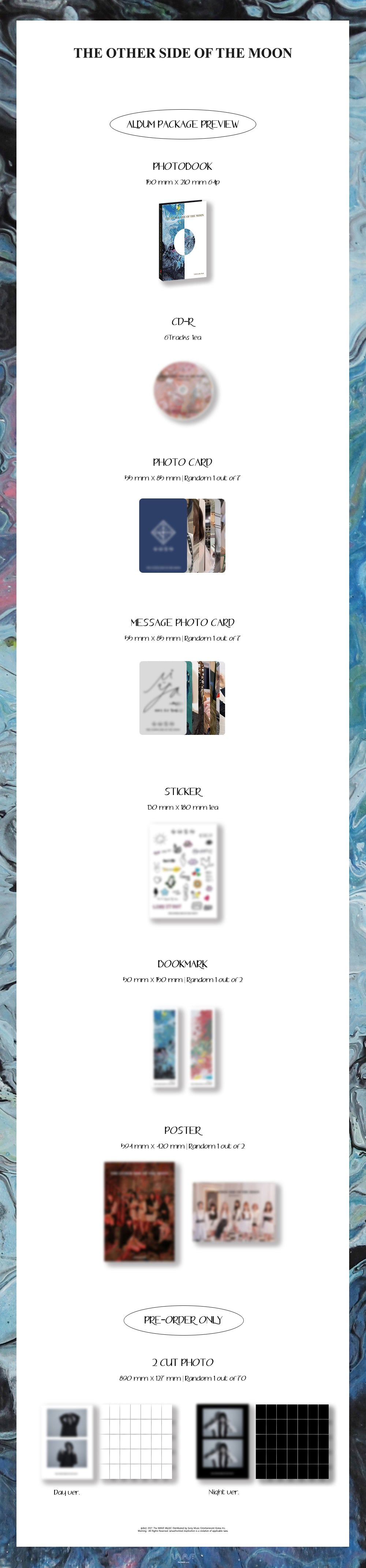 PREORDER - Girls in the Park(GWSN) - 5TH MINI ALBUM THE OTHER SIDE OF THE MOON Infographic