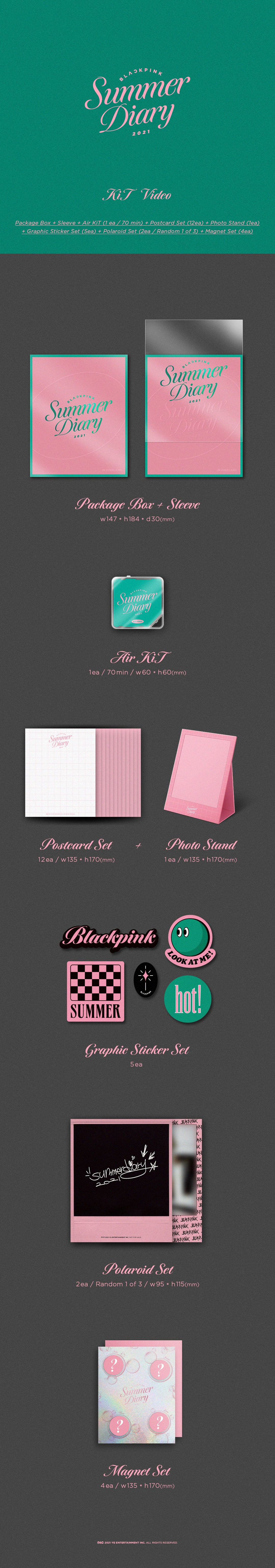 PREORDER  BLACKPINK 2021 SUMMER DIARY KIT VIDEO Infographic