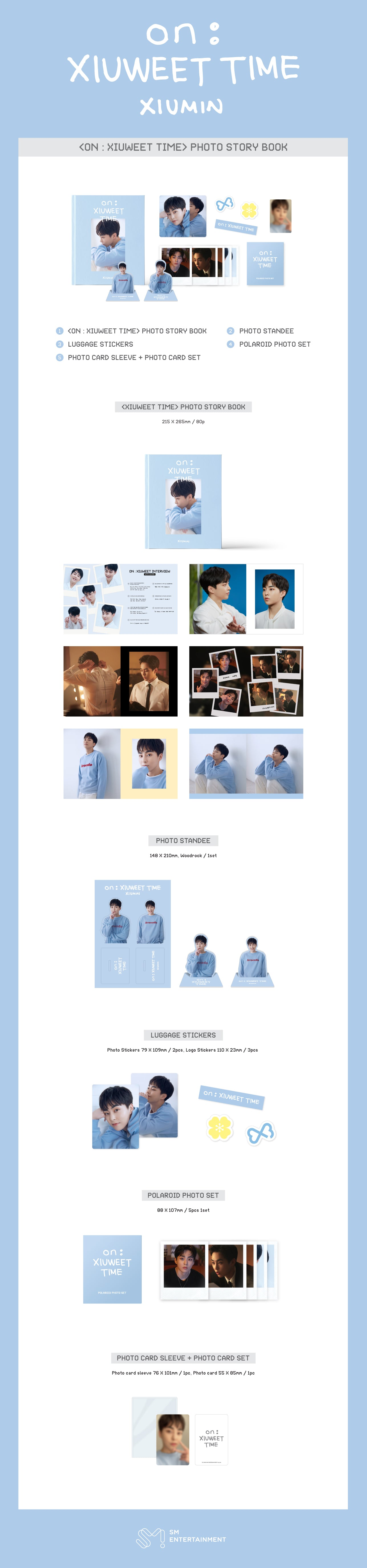 PREORDER  EXO XIUMIN - ON   XIUWEET TIME PHOTO STORY BOOK Infographic