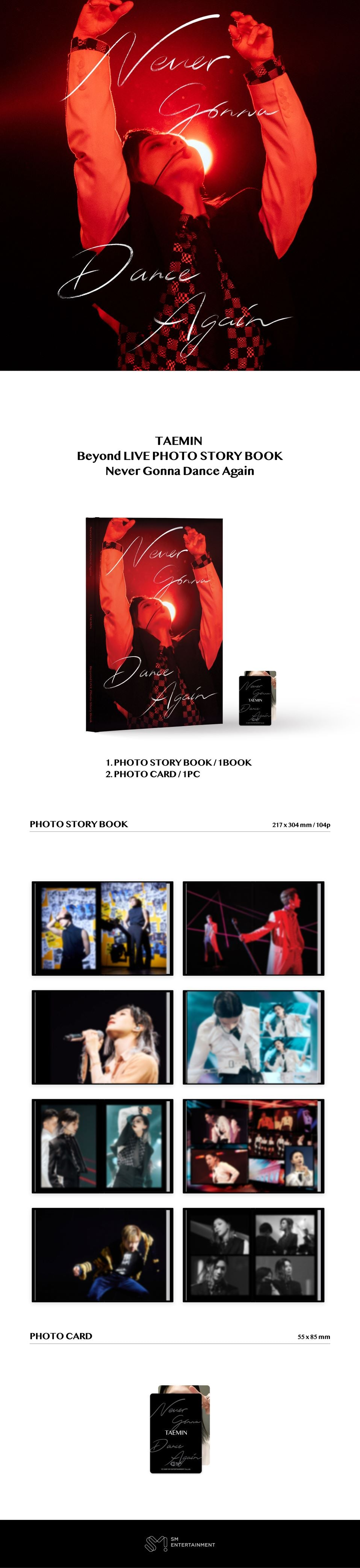 PREORDER   TAEMIN BEYOND LIVE PHOTO STORY BOOK - N.G.D.A Infographic