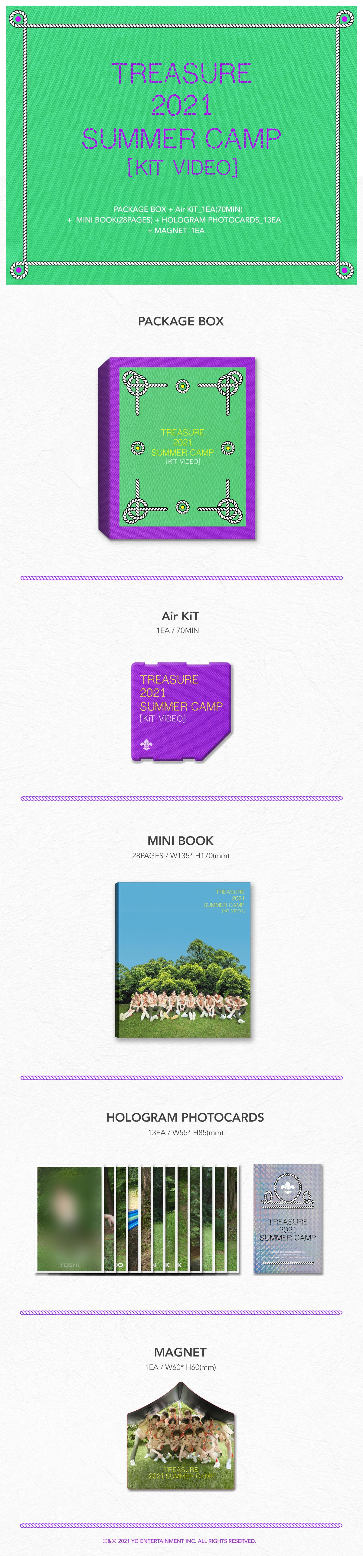 PREORDER TREASURE 2021 SUMMER CAMP KiT VIDEO Infographic