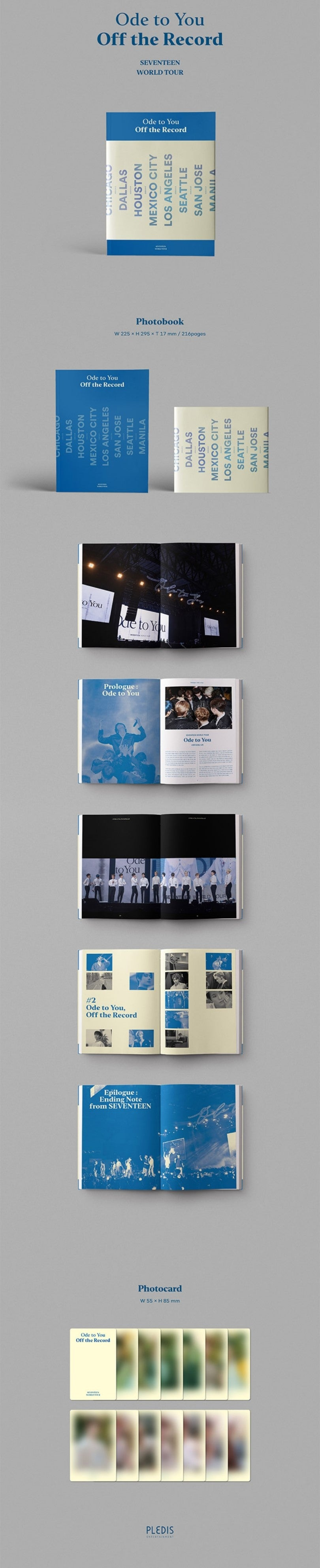 SEVENTEEN ODE TO YOU WORLD TOUR PHOTOBOOK OFF THE RECORD SOKOLLAB UK