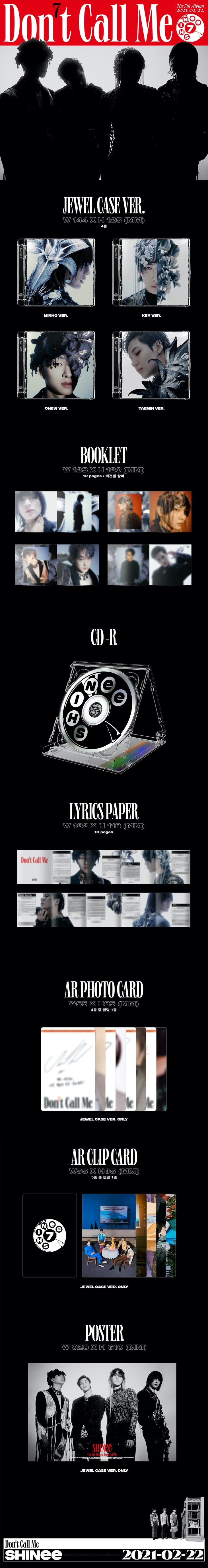 SHINEE Don't Call Me JEWEL CASE Infographic