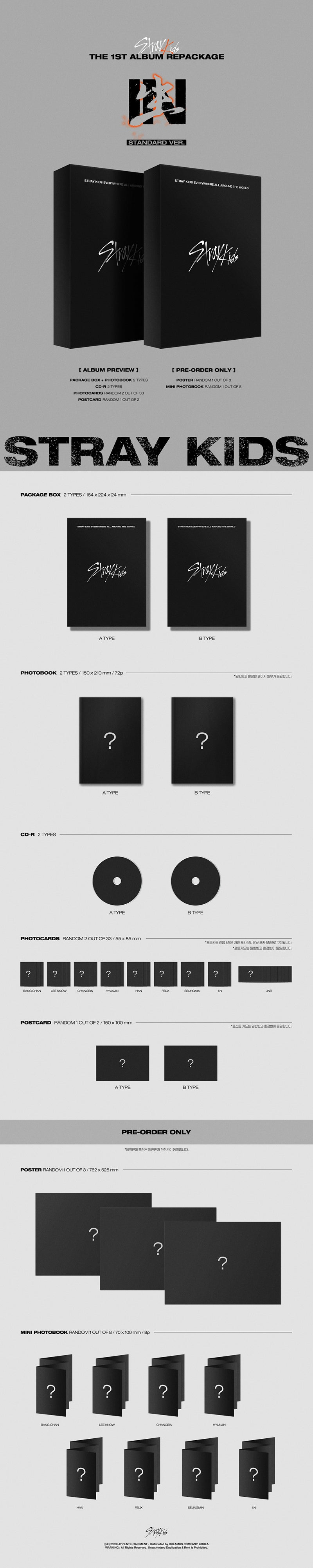 Stray Kids In Life Standard Edition Version A and B SOKOLLAB UK