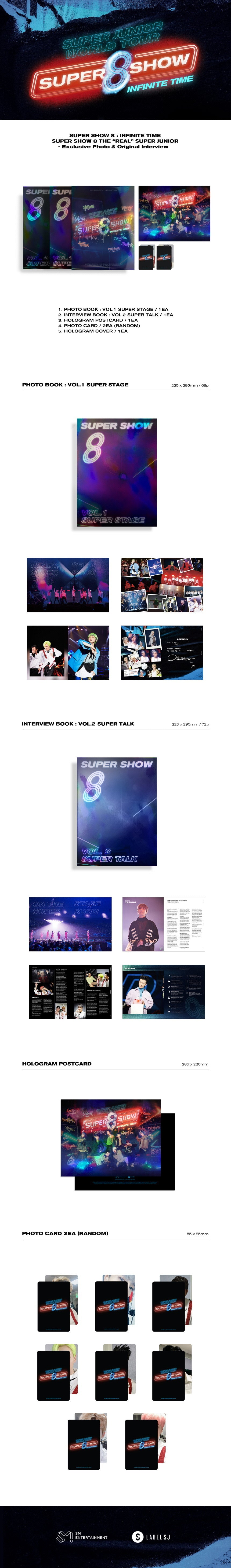 SUPER JUNIOR Super Show 8 Infinite Time DVD