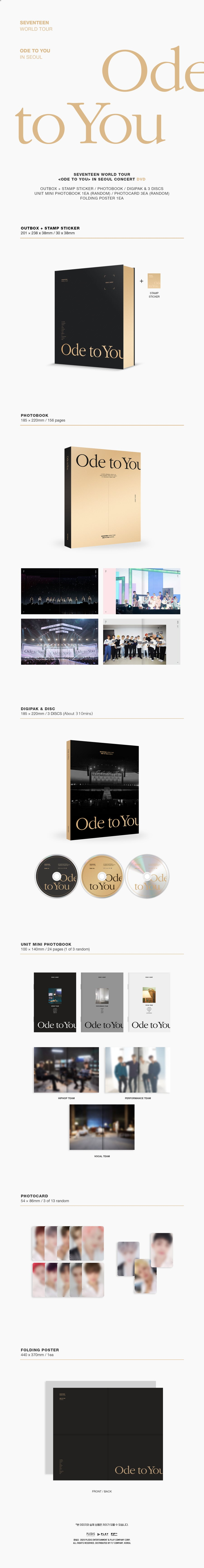 Seventeen World Tour Ode to you in Seoul DVD 2020