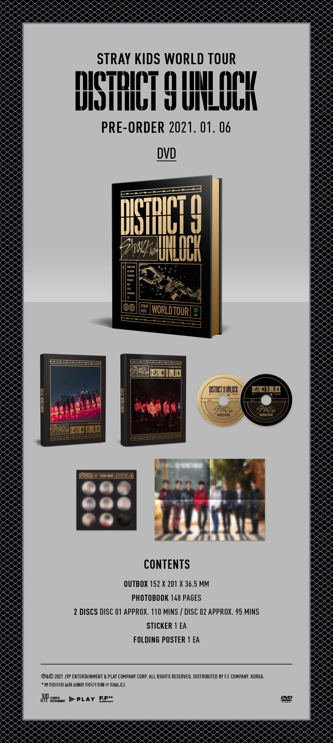 Stray Kids District 9 Unlock DVD SOKOLLAB UK