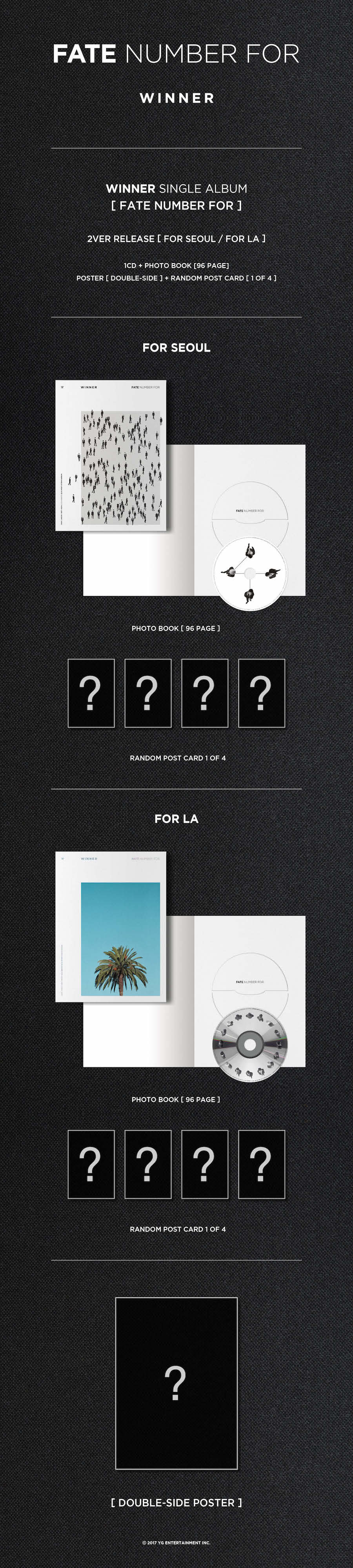 WINNER Fate Number For At SOKOLLAB with versions In Seoul and In LA